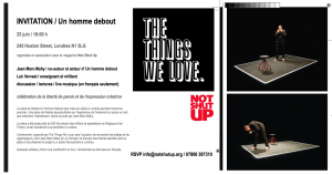 Un homme debout @ The Things We Love INVITATION image