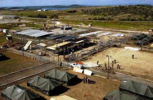 Guantanamo Aerial_image_of_Camp_xray,_January_2002