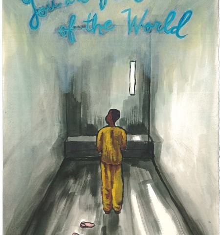 Solitary-Confinement painting you're part of the world